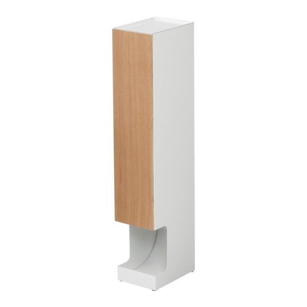 Recipient role hârtie de toaletă YAMAZAKI Rin Stocker, înălțime 71 cm, alb