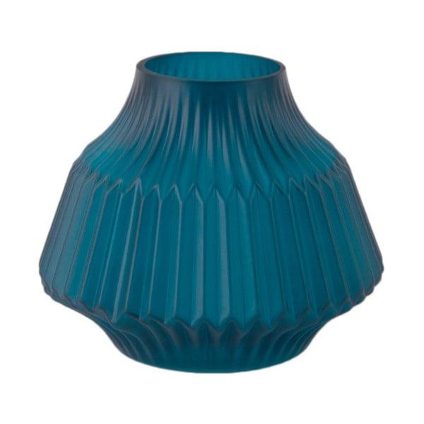 Modrá skleněná váza PT LIVING, Ø 16 cm