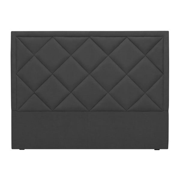 Tmavě šedé čelo postele Windsor & Co Sofas Superb, 160 x 120 cm