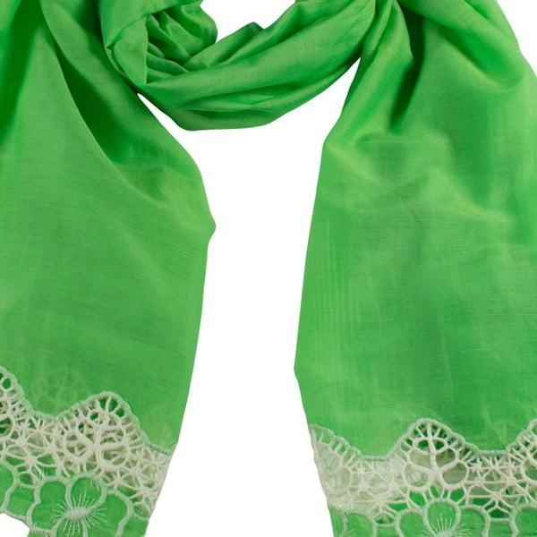 Šátek s příměsí hedvábí Shirin Sehan Florentine Grass