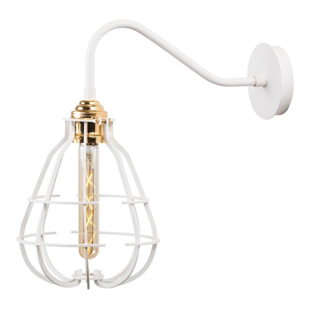 Bílá nástěnná lampa Lantern Cage