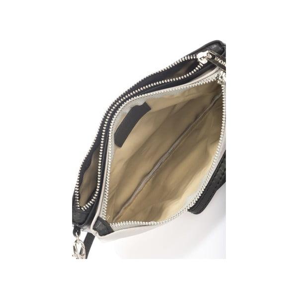 Kožená kabelka Krole Kody se dvěma kapsičkami, šedá