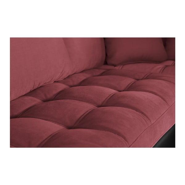 Černo-růžová pohovka Modernist Crinoline, pravý roh