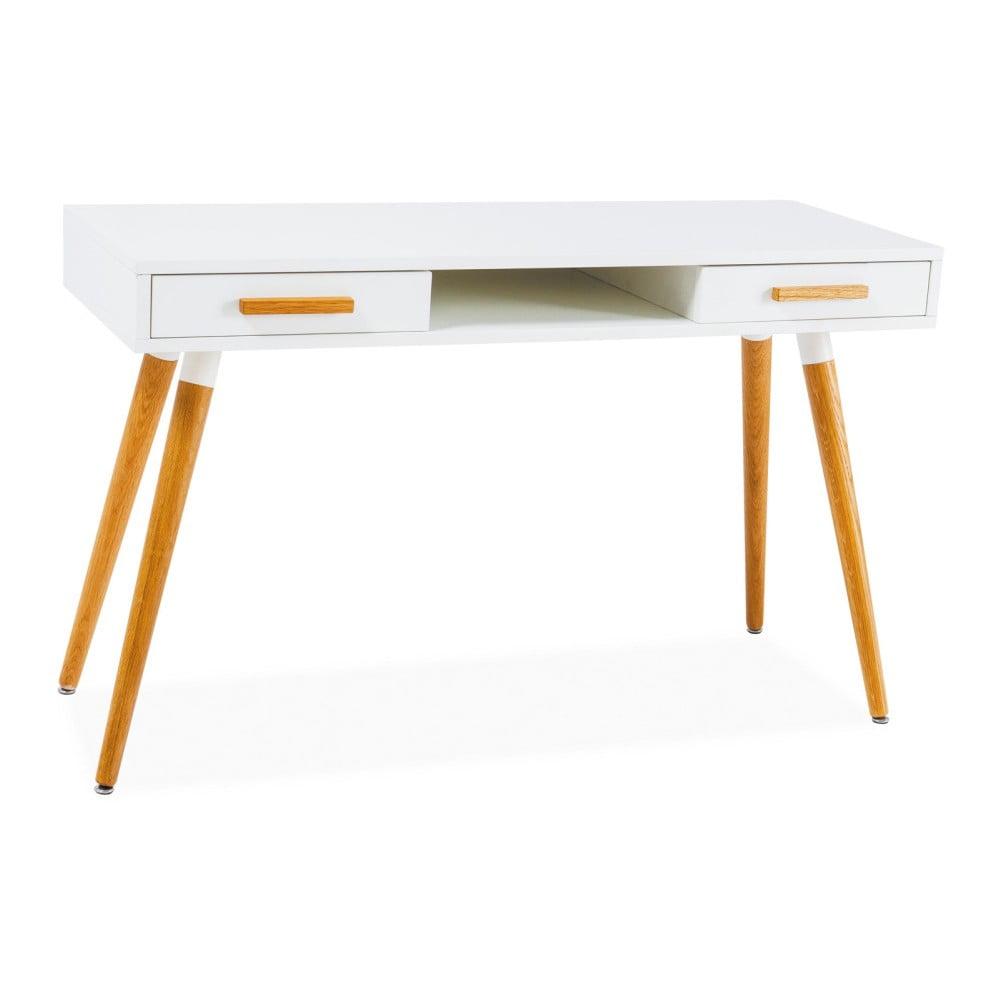 Bílý psací stůl Signal Milan, délka120cm