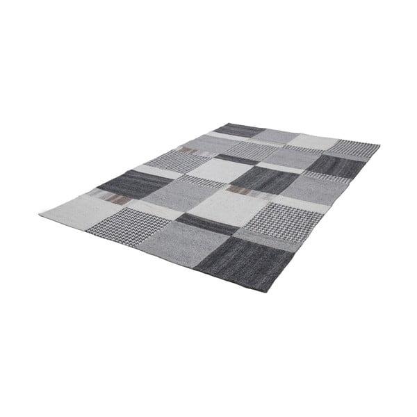 Vlněný koberec Omnia 120x170 cm, šedý