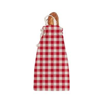 Sacoșă textilă pentru pâine Linen Couture Linen Bread Bag Red Vichy imagine