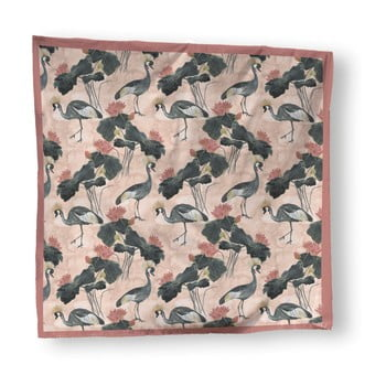 Cuvertură pat Madre Selva Flores y Gruas, 170 x 240 cm de la Madre Selva
