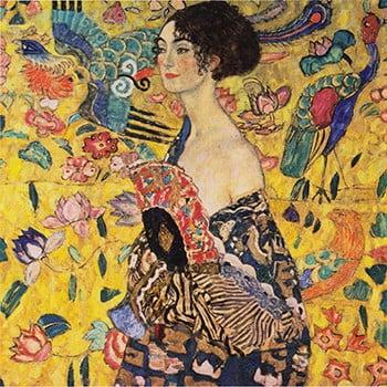 Reproducere tablou Gustav Klimt - Lady with Fan, 60 x 60 cm