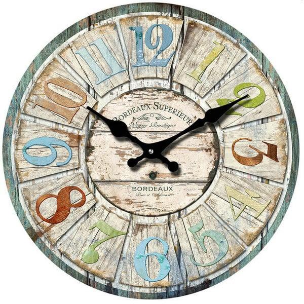 Skleněné hodiny Bordeaux, 38 cm