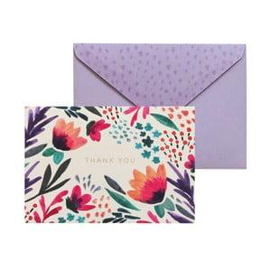 Sada 10 komplimentek s obálkami Portico Designs FOIL Tulip Thank You