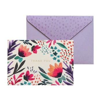 Set 10 felicitări cu plic Portico Designs FOIL Tulip Thank You de la Portico Designs