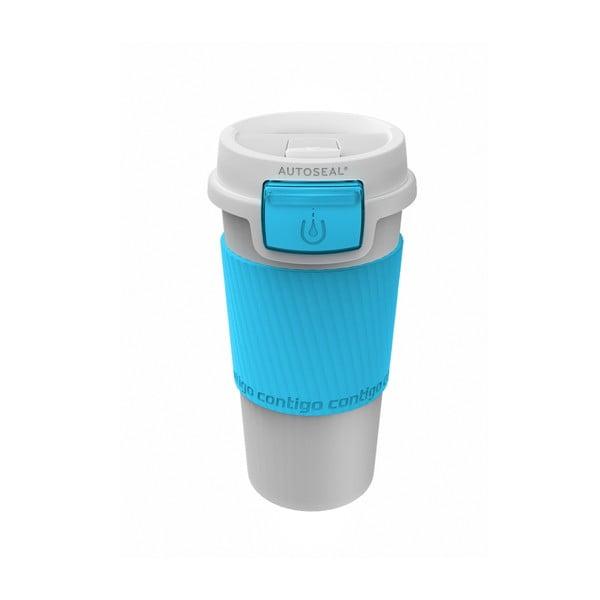 Cestovní termohrnek Morgan 360 ml, tyrkysový