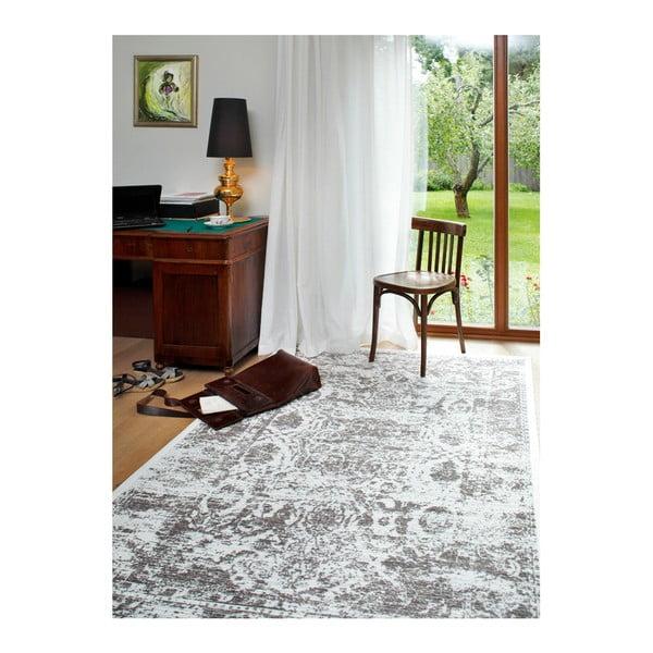 Bílý vzorovaný oboustranný koberec Narma Palmse, 160x230cm