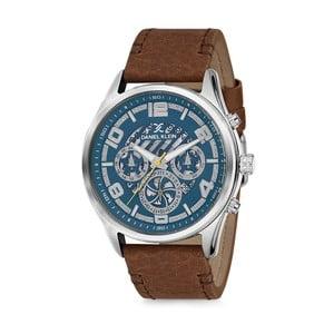 Pánské hodinky s hnědým koženým řemínkem Daniel Klein Otto