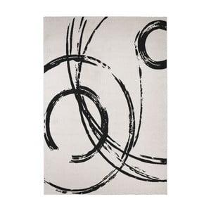 Černo-bílý koberec Calista Rugs Madrid, 135x190cm