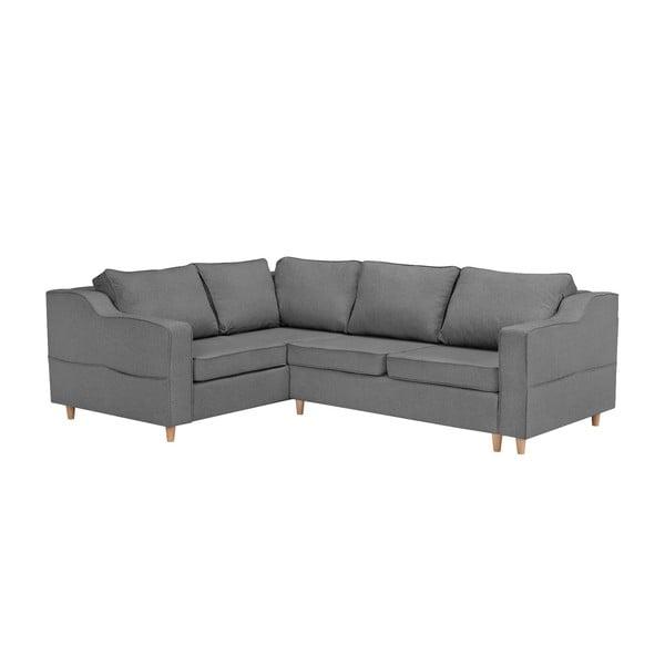 Jonquille szürke négyszemélyes kinyitható kanapé, bal oldali - Mazzini Sofas