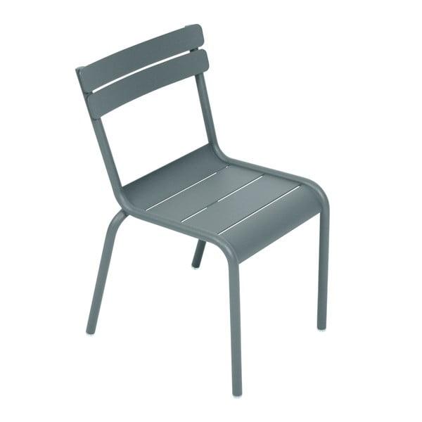 Tmavě šedá dětská židle Fermob Luxembourg