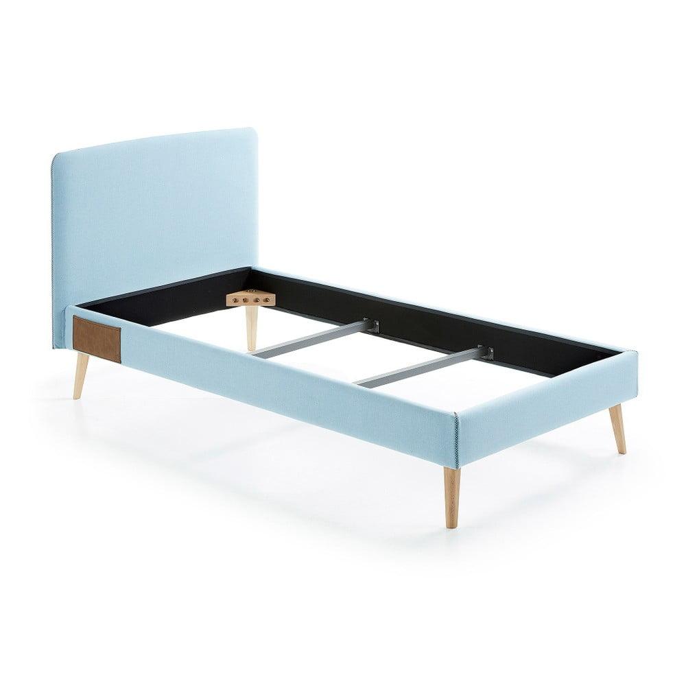 Světle modrá jednolůžková postel La Forma Lydia, 90 x 190 cm