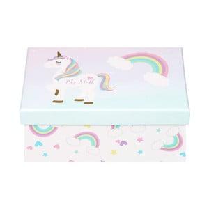 Úložný box Just 4 Kids Unicorn Magic Keepsake Box