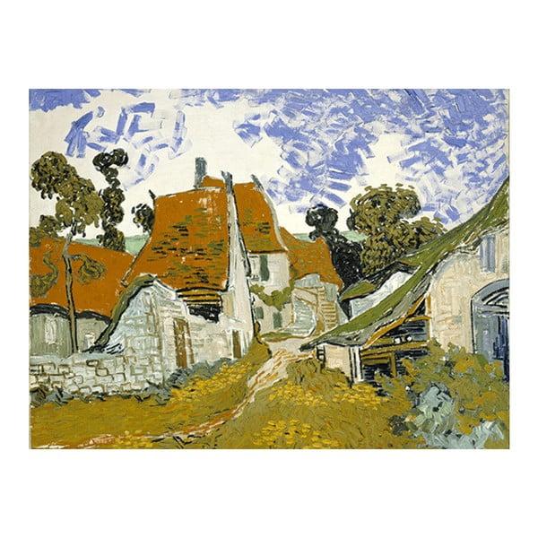Obraz Vincenta van Gogha - Street in Auvers sur Oise, 60x45 cm