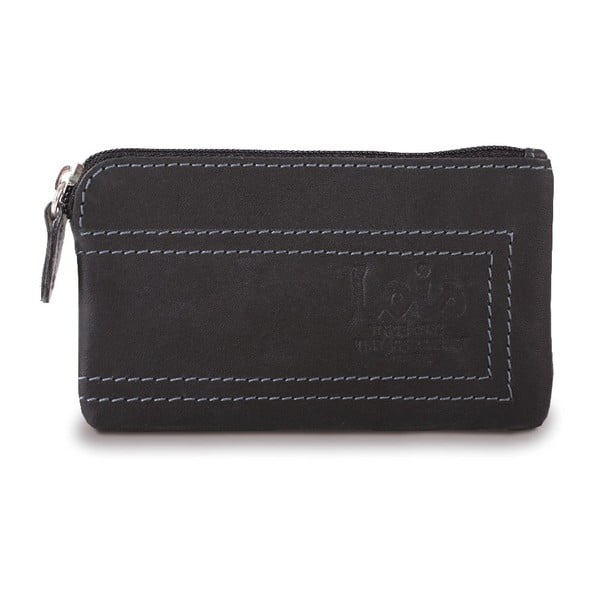 Kožená peněženka Lois Black, 11x7 cm