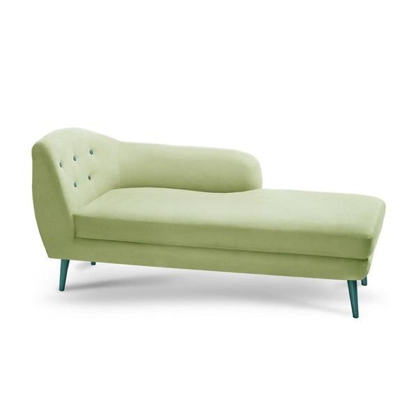Canapea șezlong cu cotiera pe partea stângă Constellation, verde fistic