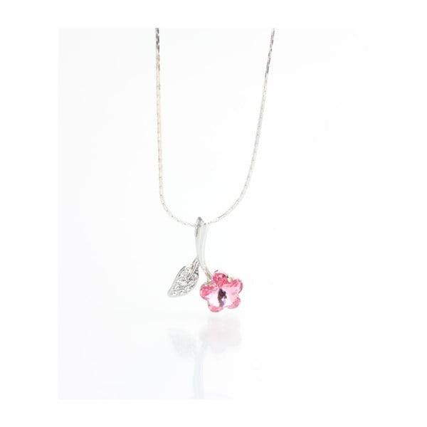 Náhrdelník Swarovski Flower Rosa, 45 cm