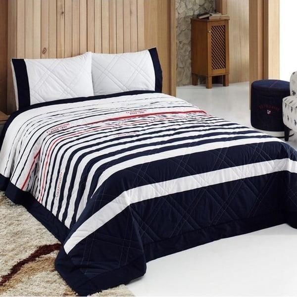Set přehozu přes postel a polštáře U.S. Polo Assn. Springfield,180x250cm