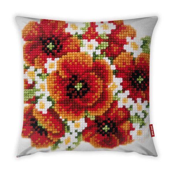 Față de pernă Vitaus Red Flower, 43 x 43 cm