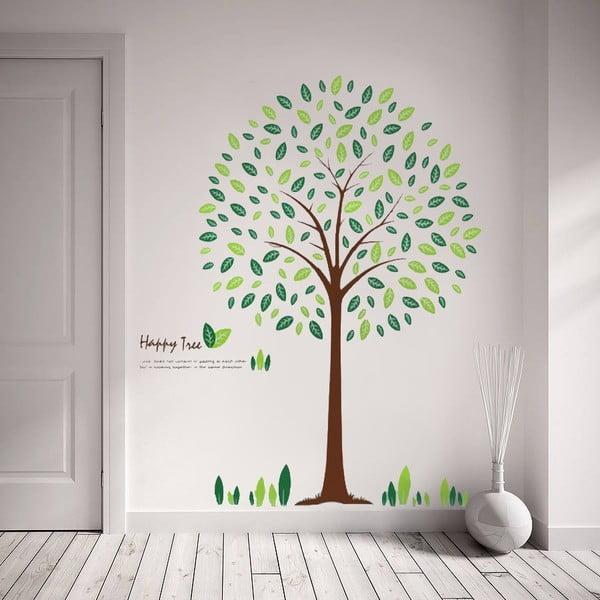 Samolepka na stěnu Strom a lístky, 60x90 cm