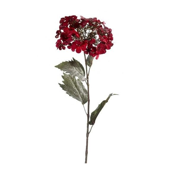Umělá květina Hortenzie, tmavě červená