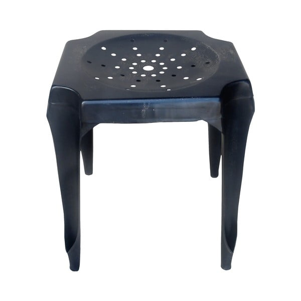 Kovová stolička Tabouret, černá