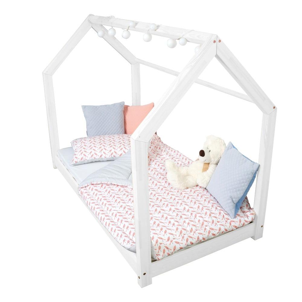 Dětská bílá postel z borovicového dřeva Benlemi Tery, 80 x 160 cm