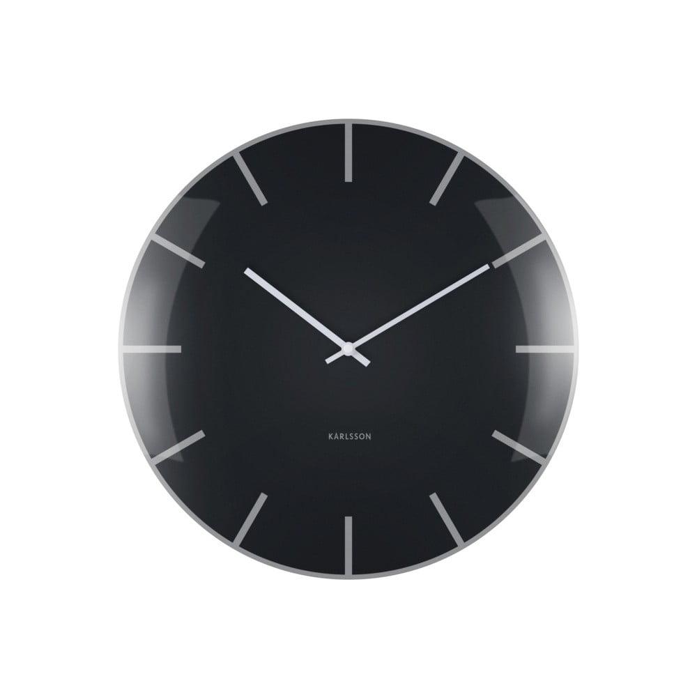 Černé nástěnné hodiny Karlsson Boxtel & Buijs
