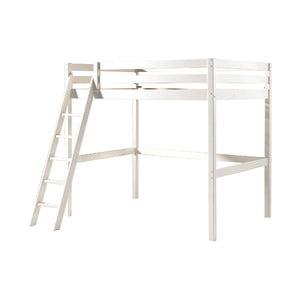 Bílá dětská postel se žebříkem Vipack Pino, 140x200cm