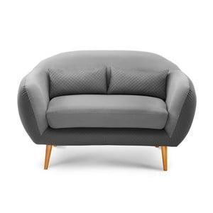 Canapea cu 2 locuri Meteore, gri/ gri deschis