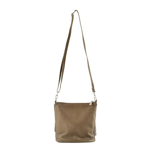 Kožená taška přes rameno Jeunnie, taupe