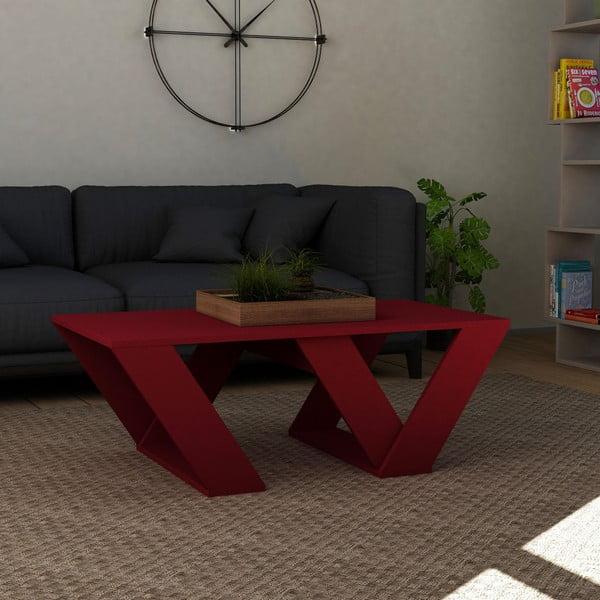 Tmavě červený konferenční stolek Homitis Pipra