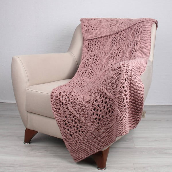 Růžová deka Tete