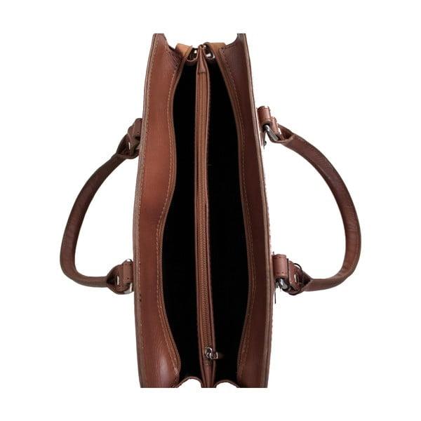 Kožená kabelka Grechetto, béžová