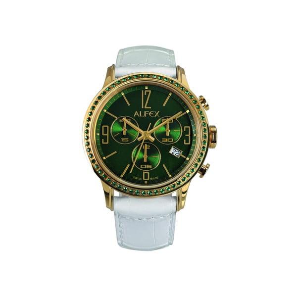 Dámské hodinky Alfex 5697 Yelllow Gold/White