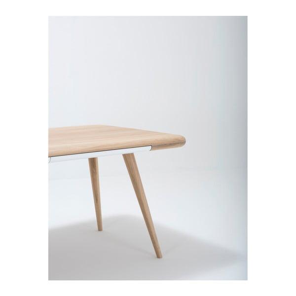 Jídelní stůl s konstrukcí z masivního dubového dřeva se zásuvkou Gazzda Ena, 180x100cm