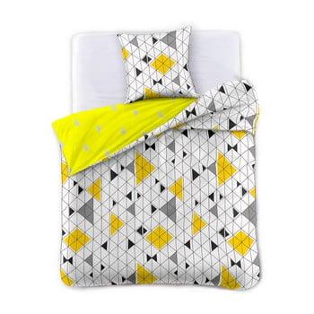 Lenjerie de pat din bumbac satinat DecoKing Geometric, 200 x 220 cm de la DecoKing