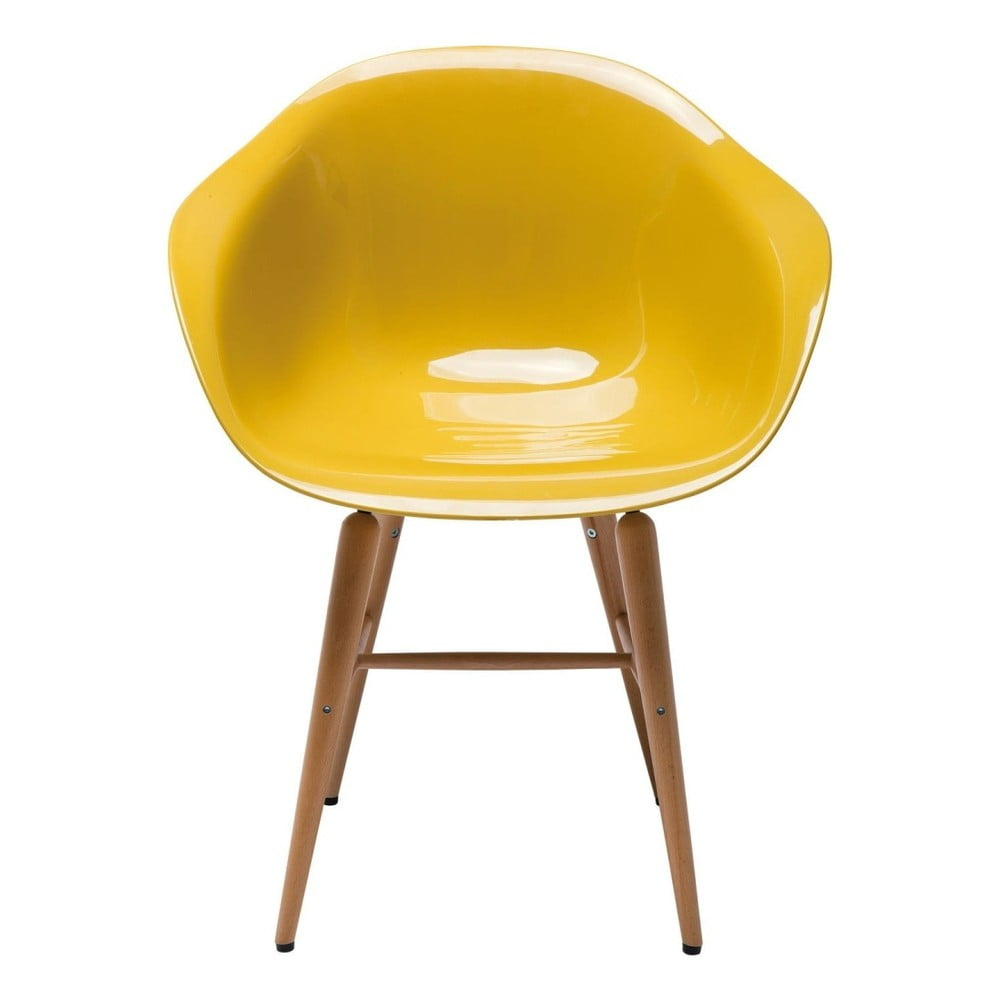 Žlutá jídelní židle Kare Design Armlehe Forum