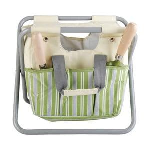 Skládací stolička s úložným prostorem Esschert Design Strip