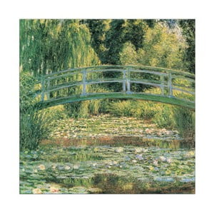 Obraz Monet - Le pont Japonais, 70x70 cm