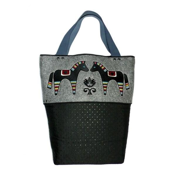 Prošívaná taška s výšivkou na plsti Goddess
