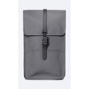 Tmavě šedý batoh s vysokou voděodolností Rains Backpack