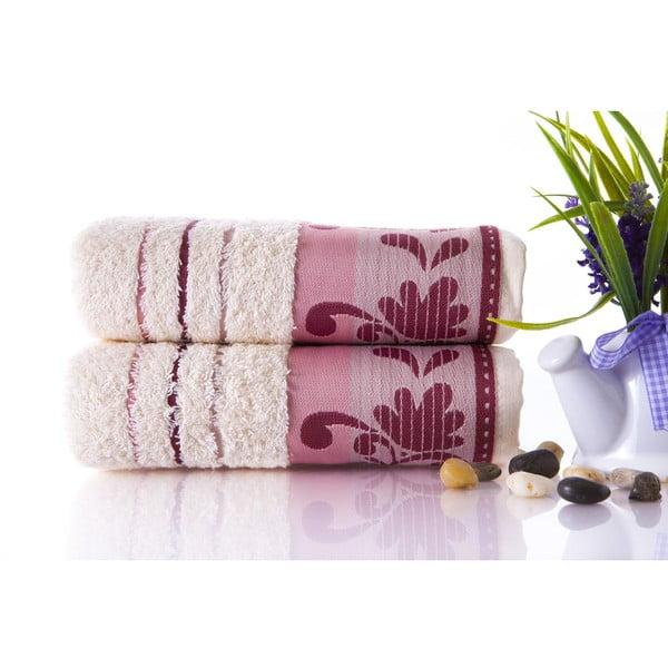 Set dvou ručníků Melodi Plum Color, 50x90 cm