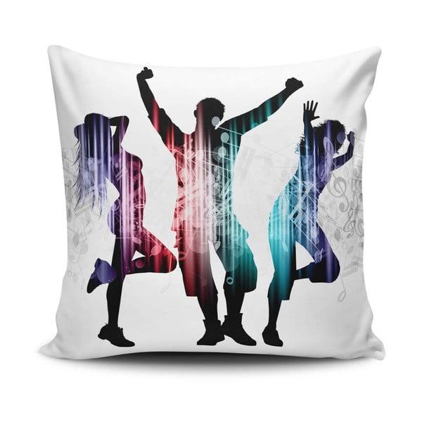Față de pernă cu adaos de bumbac Cushion Love Trio, 45 x 45 cm